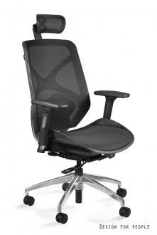 Ergonomiczny czarny fotel biurowy Hero B-NWH siatka