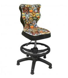 Krzesło dziecięce z podnóżkiem Petit Black