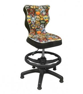Krzesło dziecięce z podnóżkiem i stopkami Petit Black