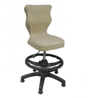 Krzesło dla dzieci z podnóżkiem i stopkami Petit Black