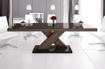 Stół rozkładany w wysokim połysku Xenon brązowy