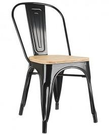 Metalowe krzesło Tower Wood