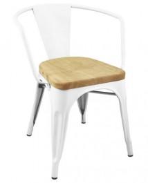 Metalowe krzesło Tower Arm Wood