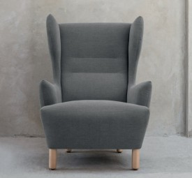 Designerski tapicerowany fotel Muno