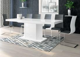 Rozkładany stół w wysokim połysku Amigo biały