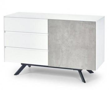 Komoda KM1 Stonno biały/beton