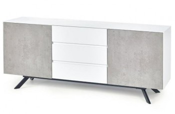 Komoda KM2 Stonno biały/beton