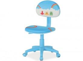 Niebieskie krzesło obrotowe Hop 2