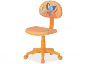 Pomarańczowe krzesło obrotowe Hop 3