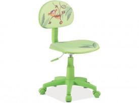 Zielone krzesło obrotowe Hop 4