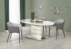 Biały lakierowany stół Aspen z owalnym blatem
