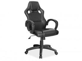 Czarny fotel biurowy z wygodnym oparciem Q-103
