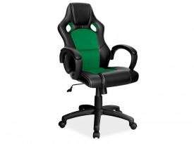 Zielono czarny fotel obrotowy Q-103