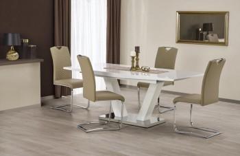 Stół Vision na jednej nodze z lakierowanym blatem