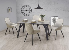 Stół Halifax z blatem w kolorze betonu