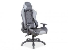 Czarno szary fotel biurowy Q-109