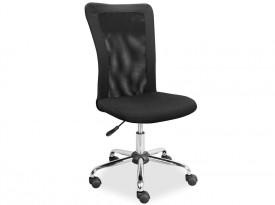 Czarne obrotowe krzesło biurowe Q-122