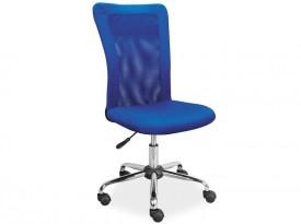 Niebieskie krzesło biurowe Q-122