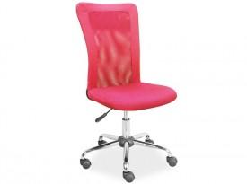 Różowe krzesło obrotowe Q-122