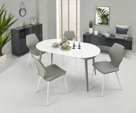 Rozkładany stół Crispin z lakierowanym blatem