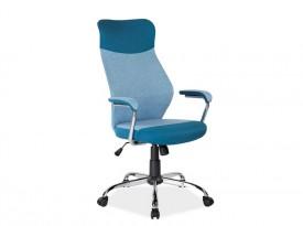 Niebieski fotel biurowy obrotowy Q-319