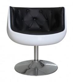 Obrotowy fotel Fresco na metalowej nodze