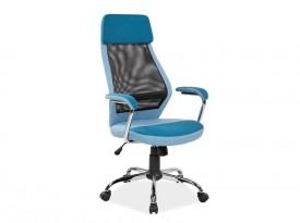 Niebieskie krzesło biurowe Q-336