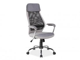 Szare krzesło obrotowe Q-336