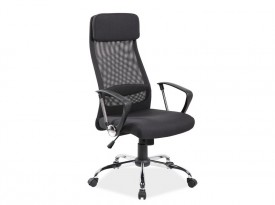 Czarne obrotowe krzesło biurowe Q-345