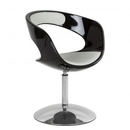 Obrotowy fotel Spiral z elementami ekoskóry