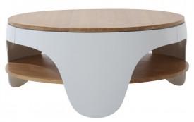 Okrągły stolik Nivel Grande z półką