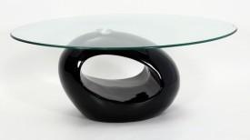 Stolik Oval z blatem ze szkła hartowanego