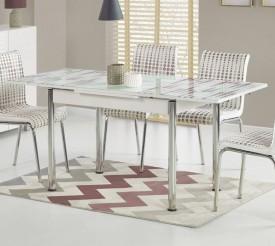 Stół Stanbul 2 z ozdobnym szklanym blatem
