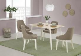 Fornirowany stół Petrus na białych drewnianych nogach
