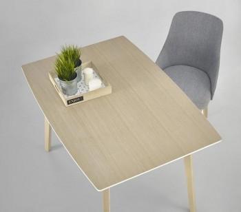 Fornirowany stół Petrus z nogami w kolorze dąb sonoma