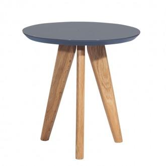Stolik Milanos na drewnianych nogach