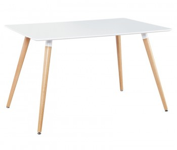 Stół Tarros z białym lakierowanym blatem