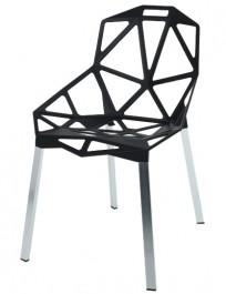 Metalowe krzesło na srebrnych nogach Split