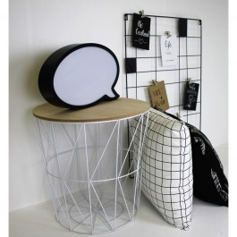 Designerski stolik z podstawą w kształcie kosza i zdejmowanym blatem Dixi