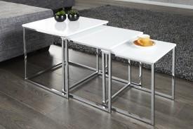 Zestaw białych stolików Trio Slim