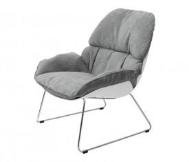 Tapicerowany fotel Nino na płozach