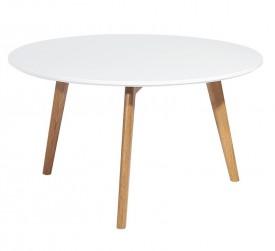 Okrągły stolik Slow na drewnianych nogach