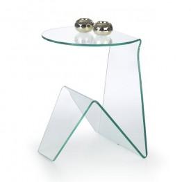 Transparentny stolik ze szkła giętego Artena