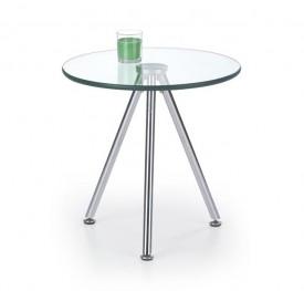 Stolik z okrągłym szklanym blatem Solo 3