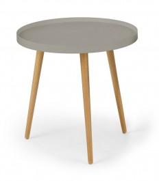 Stolik na drewnianych nogach z blatem w kształcie tacy Malaga ( 1 szt. )