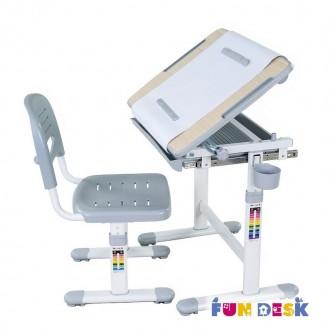 Dziecięce krzesło i biurko z uchwytem na rolkę papieru i szufladą Bambino