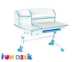 Dziecięce biurko regulowane z szufladą i nadstawką Amare II Drawer