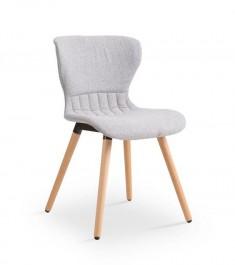 Tapicerowane krzesło na drewnianych nogach K227