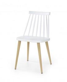 Krzesło na metalowych nogach w kolorze buku K248