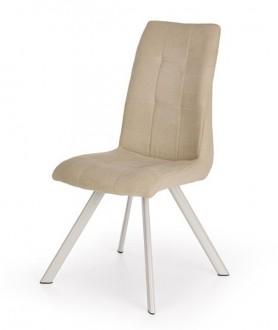 Beżowe tapicerowane krzesło K241
